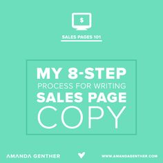 My 8-step process for writing sales page copy