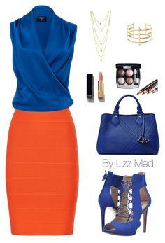 """Orange day"" by lizz-med on Polyvore featuring moda, BCBGMAXAZRIA, Paule Ka, BauXo, Chanel, Diane Von Furstenberg y GUESS"