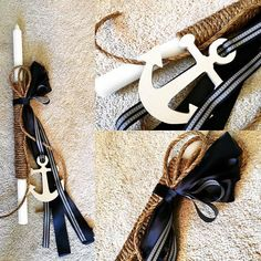 Nautical Rope Greek Orthodox Baptism Lambada Set by KoulEvents