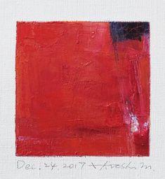 Il s'agit d'une peinture à l'huile abstraite par Hiroshi Matsumoto Titre : 24 décembre 2017 Taille : 9,0 cm x 9,0 cm (environ 4 x 4) Toile taille : 14,0 cm x 14,0 cm (env. 5,5 x 5,5) Technique : Huile sur toile Année : 2017 Peinture est feutré en écru pour s'adapter à cadre