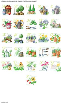 alfabeto giardinaggio