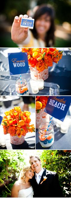 diy do-it-yourself wedding centerpieces favors table numbers