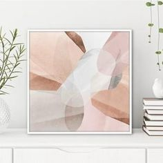 Neutral Wall Art PRINTABLE Large Square Abstract Instant | Etsy