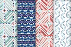 Santorini collection designed by Katja Ollendorff for Guildery Fabric Patterns, Print Patterns, Pattern Ideas, Greek Design, Santorini, Drapery, Throw Pillows, Ottomans, Benches