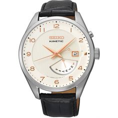 Discover a large selection of Seiko Kinetic watches on - the worldwide marketplace for luxury watches. Compare all Seiko Kinetic watches ✓ Buy safely & securely ✓ Best Watches For Men, Fine Watches, Cool Watches, Mens Watches Leather, Leather Men, Black Leather, Patek Philippe, Online Watch Shopping, Mens Watch Brands