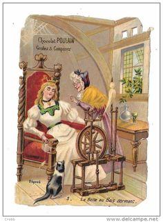 8294 Découpi CHOCOLAT POULAIN : LA BELLE AU BOIS DORMANT n° 5 - Delcampe.net
