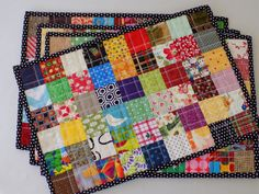 """PLACEMATS  """"the quilter"""" set of 4 by TheQuiltedPenguins on Etsy"""