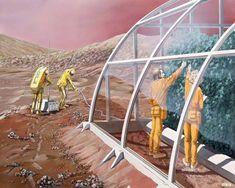 Elon Musk, Mars, NASA, Space, Future Life, Mars colonization, sci-fi art, Future People