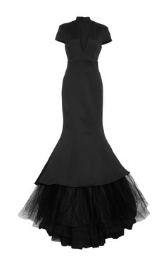 V-Neck Mermaid Gown by Hensely