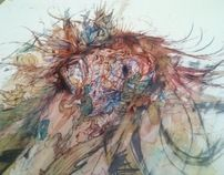 Collaborations by Carne Griffiths, via Behance