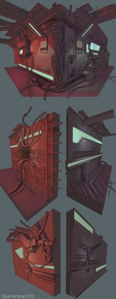 Sci-fi wires sketches: