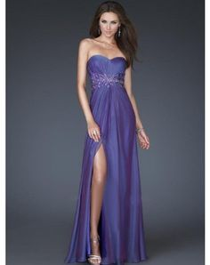 Amazing Sheath / Column Sweetheart Beading Sleeveless Floor-length Chiffon Prom Dresses / Evening Dresses