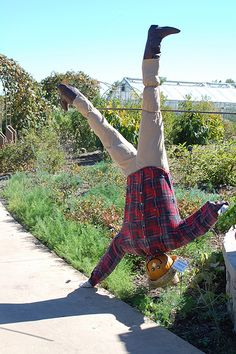 Unique funny and creative diy scarecrow ideas for your garden, outdoor front yar. Scarecrows For Garden, Fall Scarecrows, Make A Scarecrow, Scarecrow Ideas, Autumn Crafts, Spongebob Squarepants, Wizard Of Oz, Old Women, Fall Projects