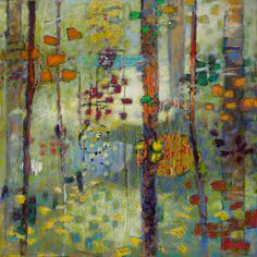 Rick Stevens - Interactions Between Us 2014 oil on canvas 48 x 48 inches