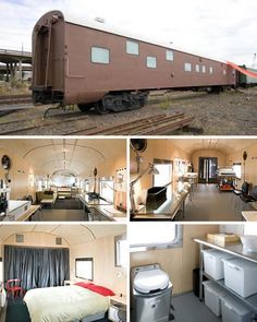 They recycle railroad cars that they transform into pretty little homes... A genius idea!