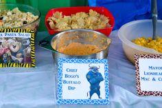 Zootopia Birthday Party Food Ideas - Chief Bogo's Buffalo Dip  #Zootopia