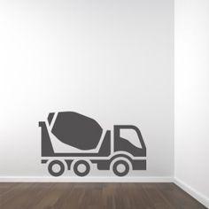 Muursticker betonauto