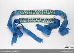 1810-29, Silk Garter. http://digitaltmuseum.se/011023567347?size=800