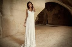 White slip wedding dress from Limor Rosen
