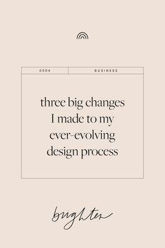 Graphic Design Tips Three big changes I made to my ever-evolving design process. Branding process, p Business Branding, Business Design, Creative Business, Corporate Branding, Identity Branding, Corporate Design, Personal Branding, Visual Identity, Web Design