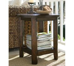 Benchwright Side Table - Rustic Mahogany Stain