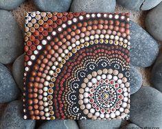 Fire Painting Aboriginal Dot Art Painting by RaechelSaunders