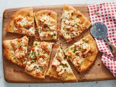 Shrimp Scampi Pizza : Reinvent the classic pasta dish in pizza form. Top pizza dough with tender shrimp, two cheeses and a lemony, garlic-infused butter sauce. Sprinkle with an extra pinch of crushed red pepper for an added kick of heat.