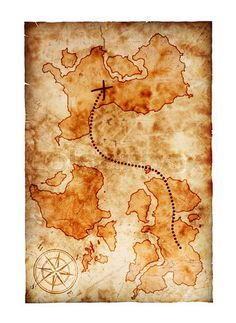 Stock image of 'old treasure map'