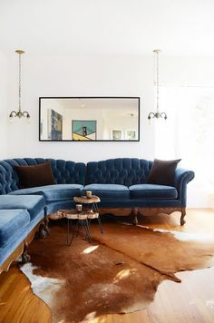 There's just something about blue velvet. With its soft touch and romantic materiality, velvet in deep jewel tones and cool, tranquil tones is every bit the perfect muse. We're currently swooning over the lush trend in every shade of blue.