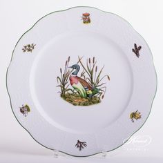 1 pc – Dinner Plate - diam cm - Wild Duck This patt Dinnerware Ideas, Dinner Sets, Forest Animals, Serving Plates, Animal Design, Fine China, Hunters, Dinner Plates, Buffet