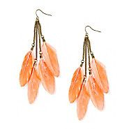 Neon Feather Dangle Earrings – Claire's