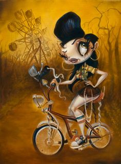 Made by: Brandt Peters - (Woman on Bicycle, Bike)