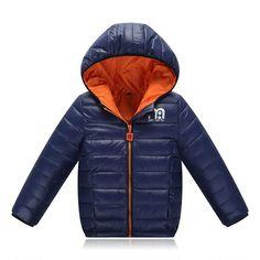 d7d1ab272 Boys Winter Jacket New Brand Hooded Kids Girls Winter Coat Long Sleeve  WindProof Children Down Coat Outwear Warm 4-12 Years