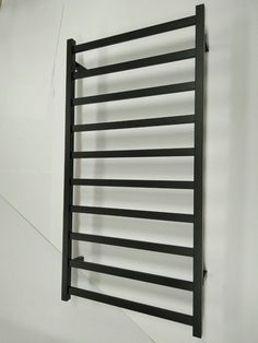 Stainless steel 304 Electric Heated Towel Rail rack black Matte 110v NEW in USA