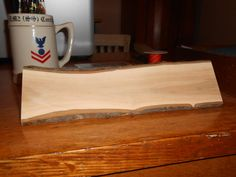 Rustic Office/Cubicle Log Desk Nameplate Sign  10 inches  by JackQuest - crab apple, oak, hardwood tree branch - bark