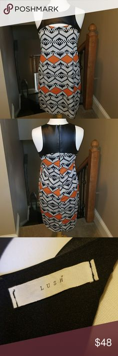 Lush medium dress..going out High low ..length for front is 34 in. Back length 38.5 ....pit to pit is 17.5 inches....waist is 19 inches Lush Dresses Midi
