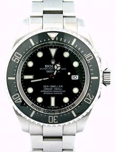 Pre-Owned Rolex Sea-Dweller DEEPSEA: The Ultimate Diver's Watch.  Water Proof up to 12,800 Feet