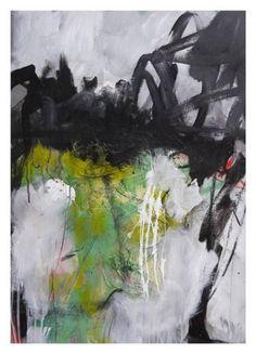 "Saatchi Art Artist Daniela Schweinsberg; Painting, ""In The Lithic Ocean (Im steinernen Meer) | Work No. 2015.33"" #art #abstract #painting"