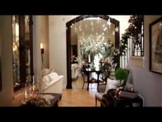 YouTube video: Ideas on decorating your home for Christmas 2012 as Interior Designer Rebecca Robeson takes you on a Tour of her own home - also loads of DIY tutorials on her Robeson Design channel.