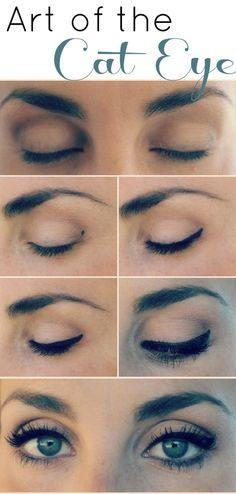 different eyeliner styles for different eye shapes: Winged eyeliner doesn't look good on me with my eyes being so round and big but this is so subtle and nice!