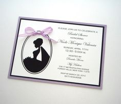 Etsy- Bridal Shower Silhouette Invitation  White by EmbellishedPaperie