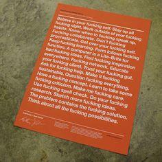 Good F'n Design Advice.  Good for anyone.
