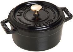 Staub 1101025 Mini Round Cocotte Oven, 0.25 quart, Matte Black -- Additional details at the pin image, click it  : Dutch Ovens