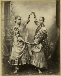 "Indian ""Nautch"" girls (dancing girls) from the late 1800's"