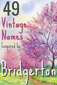 Are you looking for a vintage baby name inspired by Bridgerton? This list of Brigerton-inspired vintage baby names will help you in your search? #vintagenames #vintage #names #girlnames #boynames Strong Baby Names, Baby Girl Names, Baby Girls, Italian Baby Names, English Baby Names, Vintage Boy Names, Unique Girl Names, Baby Names And Meanings, Names With Meaning