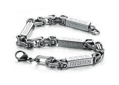 Meander Stainless Steel Link Bracelet http://www.sneakoutfitters.com/Jewelry/Meander-Stainless-Steel-Link-Bracelet-p4251.html