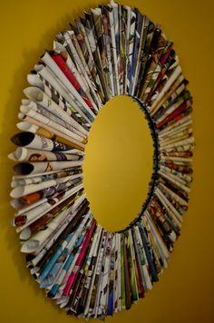Magazine Mirror! Read for more ideas!