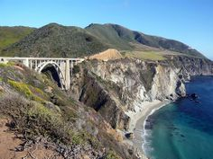 Big Sur California, Pacific Ocean, Bixby Creek  Bridge