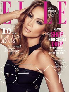 Jennifer Lopez Smolders in Black Dress on ELLE UK October 2014 Cover lensed by Txema Yeste