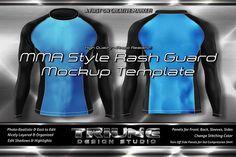 MMA Style Rash Guard Mockup Kit by Triune Design Studio on @creativemarket